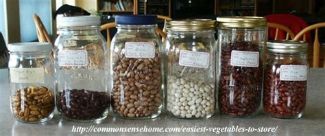 Shelf Dried Beans by The 5 Easiest Vegetables To Store