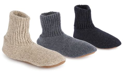 mens slippers socks muk luks s slipper socks groupon goods