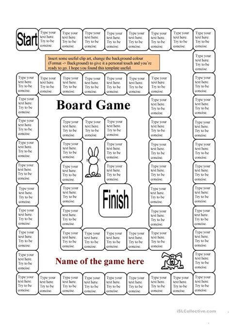 board templates board template 62 squares 1 page worksheet free