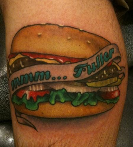 hamburger tattoo 10 hilarious hamburger designs