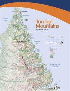 map of mountains in canada parks canada torngat mountains national park maps