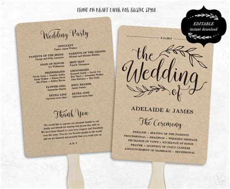 Attractive One Page Wedding Program Template 6