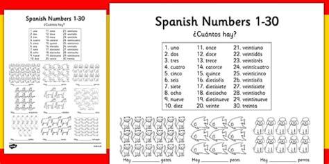 printable spanish numbers 1 30 ficha de n 250 meros 191 cu 225 ntos hay n 250 meros
