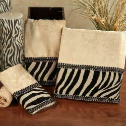 bathroom decorative towels zuma zebra decorative towel set