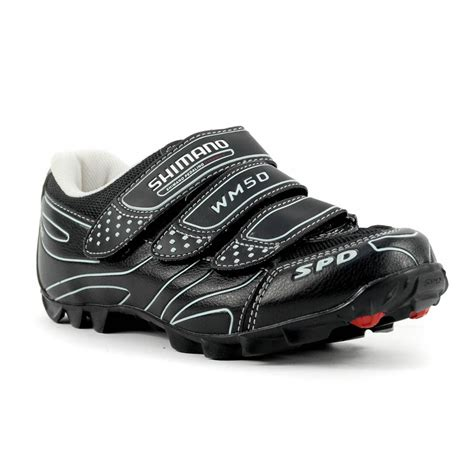 mountain bike shoes spd compatible shimano sh wm50 mountain bike shoes spd black new