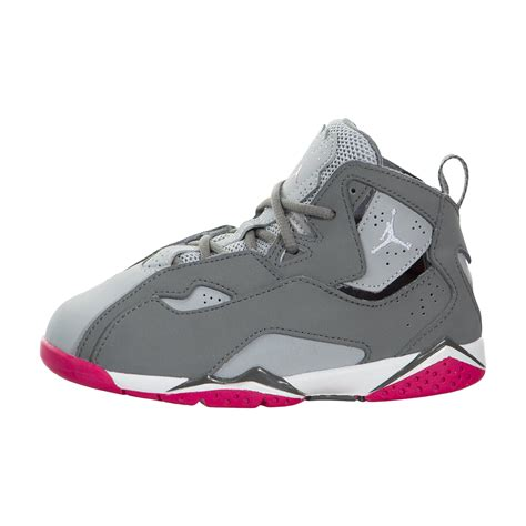 toddler jordans shoes toddler true flight basketball shoes grey pink