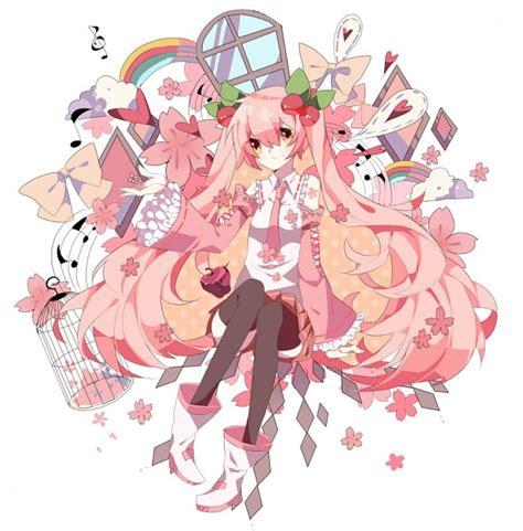 Amio Id Gamis Pink Blossom hatsune miku 1563515 zerochan