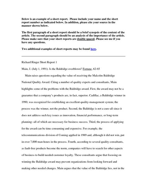 business review report template business report writing
