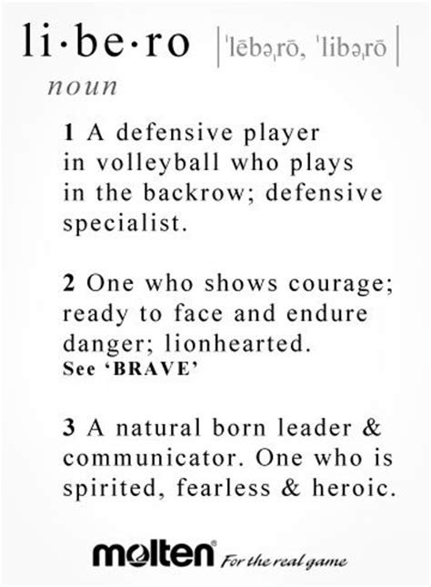 setter definition volleyball libero quotes quotesgram