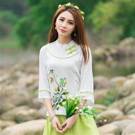 Baju Cina Cheongsam Bordir buy grosir cheongsam atas from china cheongsam atas penjual aliexpress alibaba