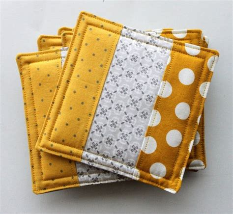Patchwork Coasters - potholders fabric coasters and fabrics on