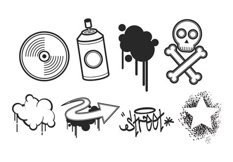 graffiti vector design elements 25x eps graffiti free vector art 6797 free downloads