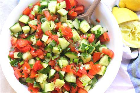 Lime Green Kitchen Ideas mediterranean cucumber tomato salad oil free