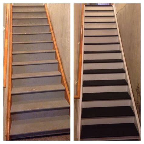 chalk paint stairs stair overhaul with chalk paint home decoration ideas