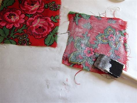 Decoupage With Fabric - decoupage with vintage fabric diy coasters mod podge rocks
