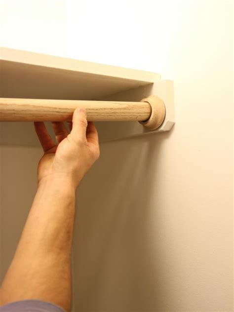 Installing A Closet Rod by How To Hang A Closet Rod How Tos Diy