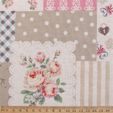 Patchwork Fabric - patchwork sparkle pink