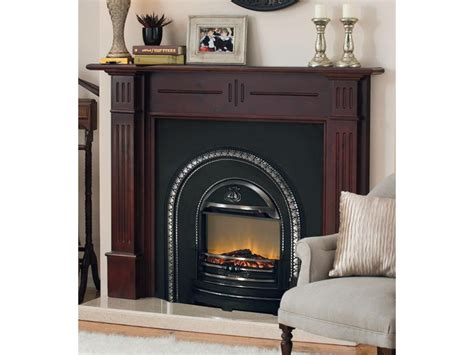 energy efficient electric fireplace on custom fireplace