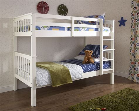 Bunk Beds Outlet Novaro White Wood Bunk Bed Discount Furnishings