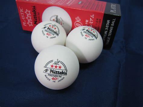 Nittaku 3 Plastic 40 nittaku premium 40 table tennis plastic 3
