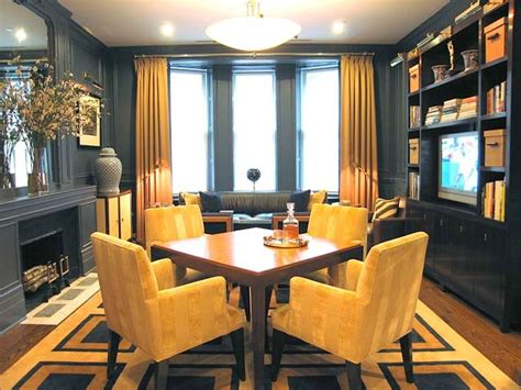Yellow And Grey Dining Room by Yellow Gray Dining Room House