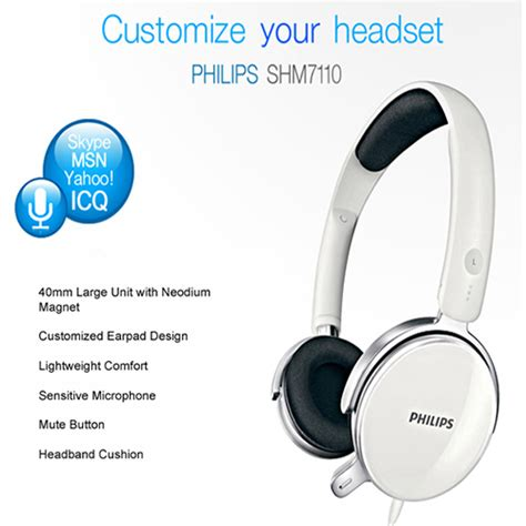 Philips Headphone For Laptoppc With Microphone philips pc computer gaming headset headphones with microphone for iphone samsung ebay