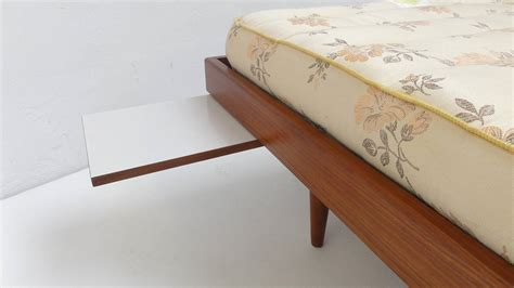Kapok Futon by 1950s Teak Daybed With Original Never Ssed Kapok
