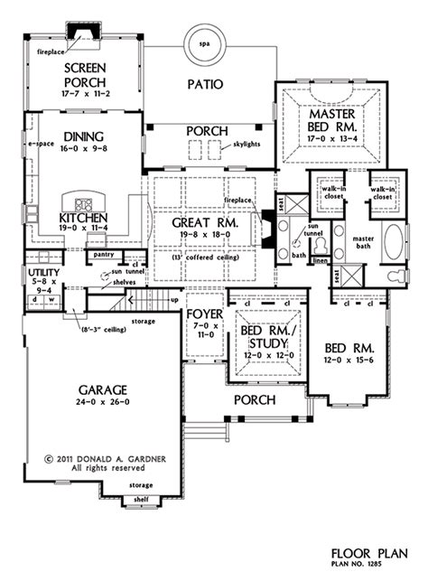 don gardner floor plans plans of the week open island kitchens houseplansblog