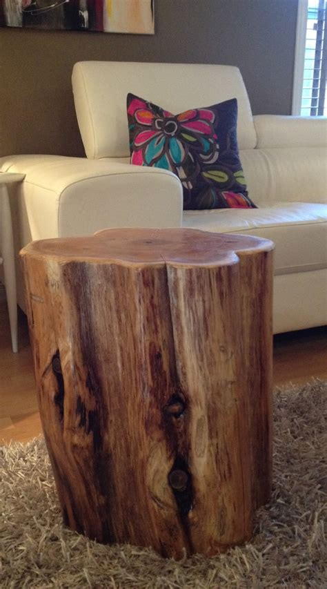 Wood Stump Table by Wood Stump Side Tables End Tables Coffee Tablesrustic