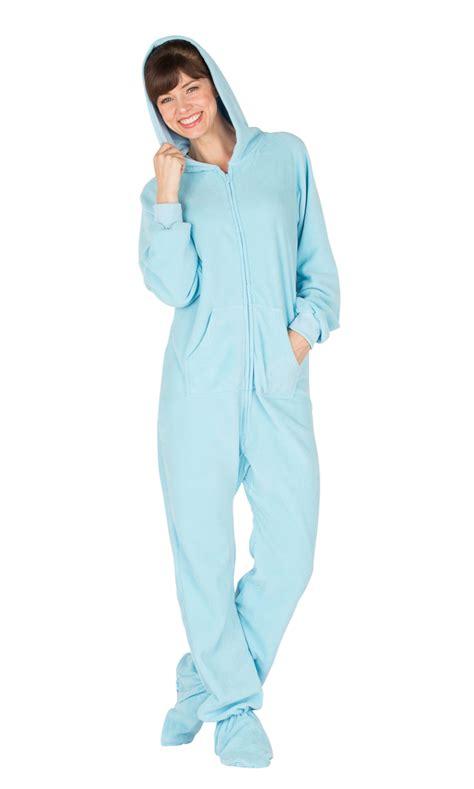 Pajamas Blue footed pajamas baby blue hoodie one
