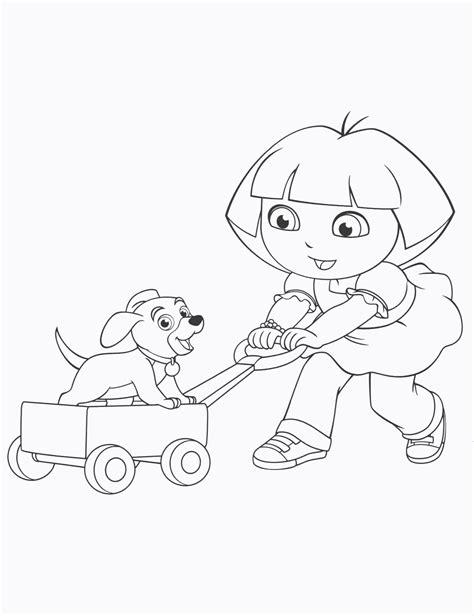 dora puppy coloring page dora and puppydora123 com dora123 com games coloring pages