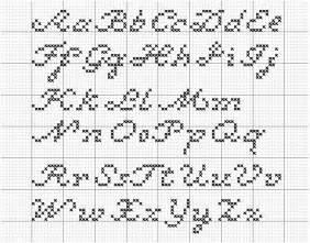 alphatwo a script cross stitch alphabet by rebellecherry