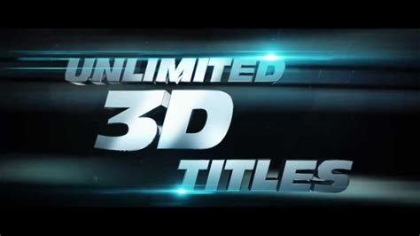 After Effects 3d Title Templates