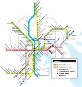 Light Link Rail Map Light Rail Baltimore