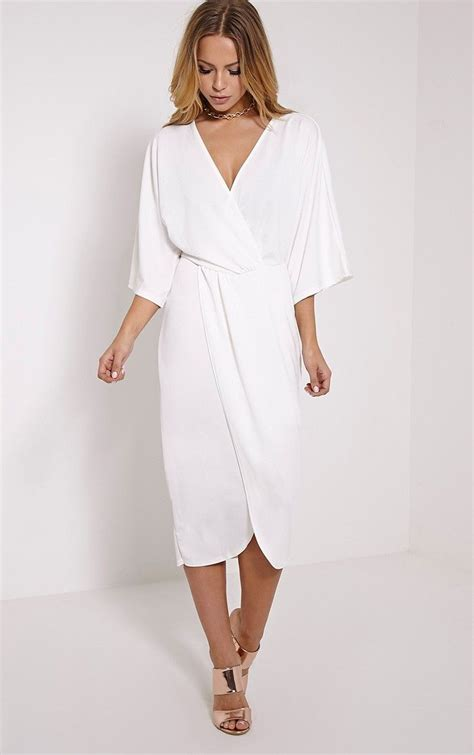 Dress White Pretty pretty thing white wrap dress search