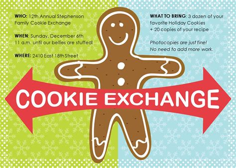 cookie invitation template cookie exchange invitation