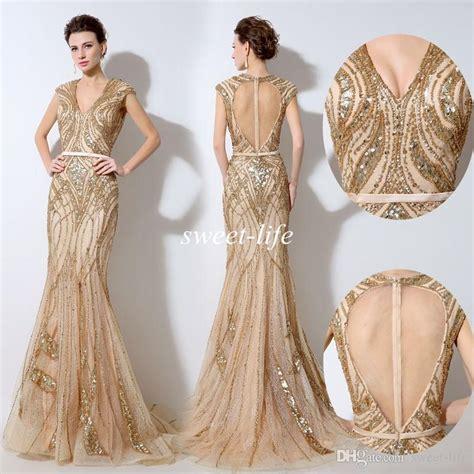 Gold Evening Dresses   All Dress