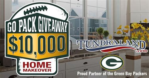 Packers Giveaways 2017 - go pack giveaway 2017 win a 10 000 home makeover