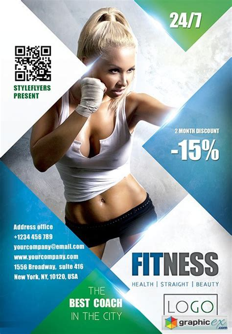fitness psd flyer template facebook cover 187 free