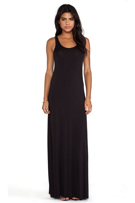 Maxi Black A luxx maxi tank dress in black lyst