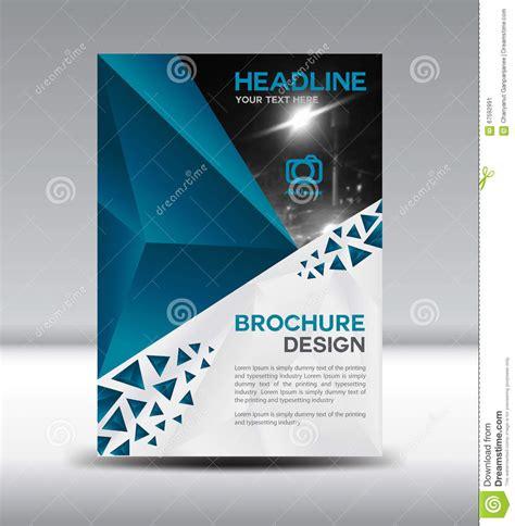 company profile design illustrator blue vector brochure flyer and cover template polygon