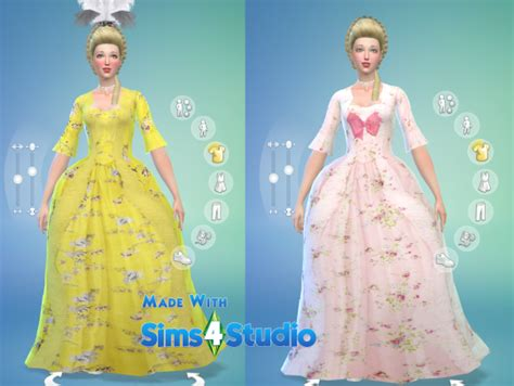 Longdress Cc sims 4 cc s the best rococo dress by oh so rococo
