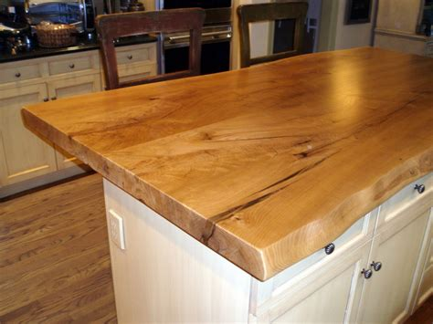 kitchen island wood countertop live edge wood countertops gallery custom