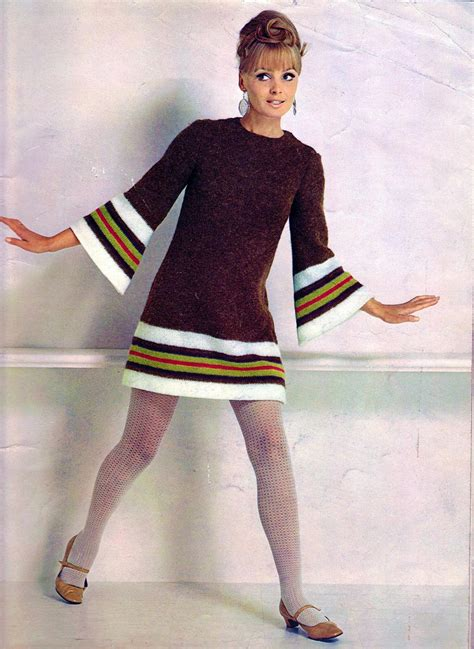 sixties fesyen colorful women s knitting sweaters of the 1960s vintage