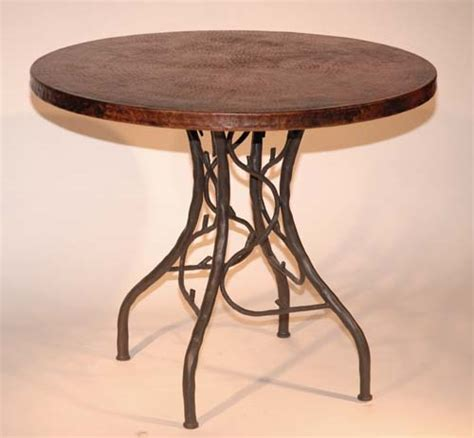 copper and iron bistro table 228 western dining tables