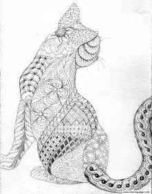 cat coloring pages for adults difficult cat from back coloring pages printable