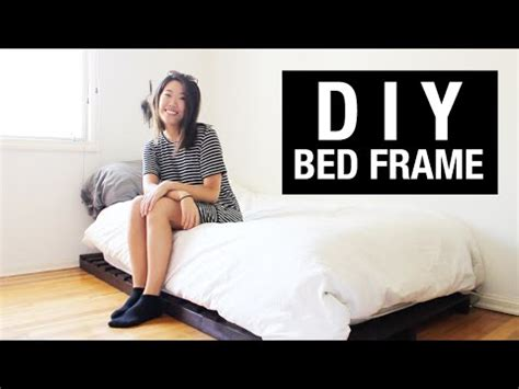 diy bed frame on a college student s budget