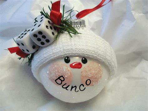 get the new bunco snowball christmas ornament out of stock