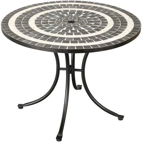 Mosaic Outdoor Dining Table Home Styles Delmar Mosaic Patio Dining Table Black Shopperschoice