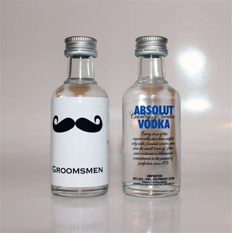 25 Custom Absolut Vodka Mini Bottle Labels Wedding Favors